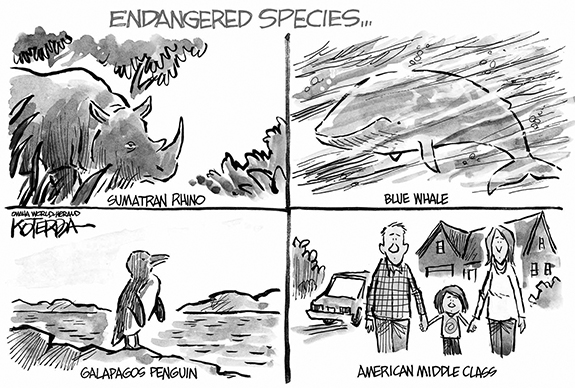 Editorial Cartoon: Endangered Species