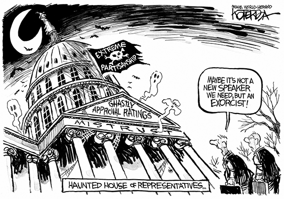 Editorial Cartoon: Exorcist