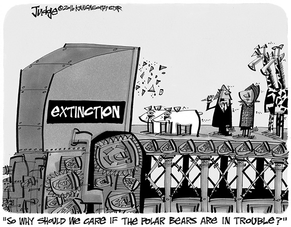 Editorial Cartoon: Extinction