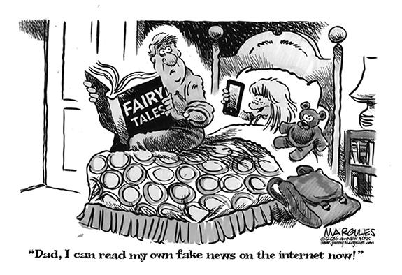 Editorial Cartoon: Fake News
