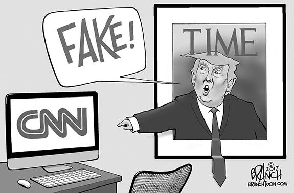 Editorial Cartoon: Fake Stuff
