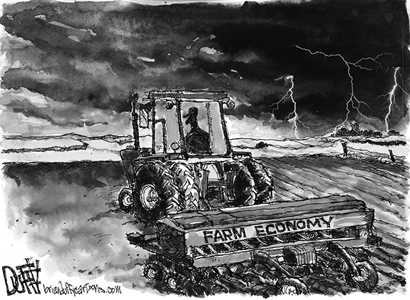 Editorial Cartoon: Farm Economy