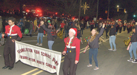 <i>Santa was one popular fellow in Franklinton! 2</i>