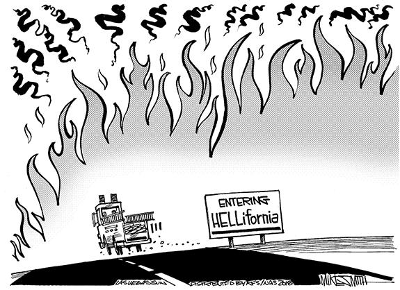 Editorial Cartoon: Fire