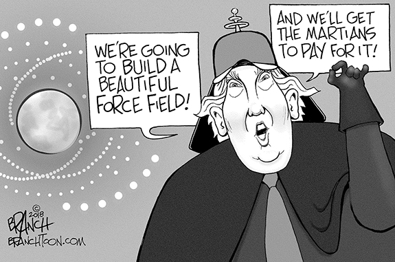 Editorial Cartoon: Force Field