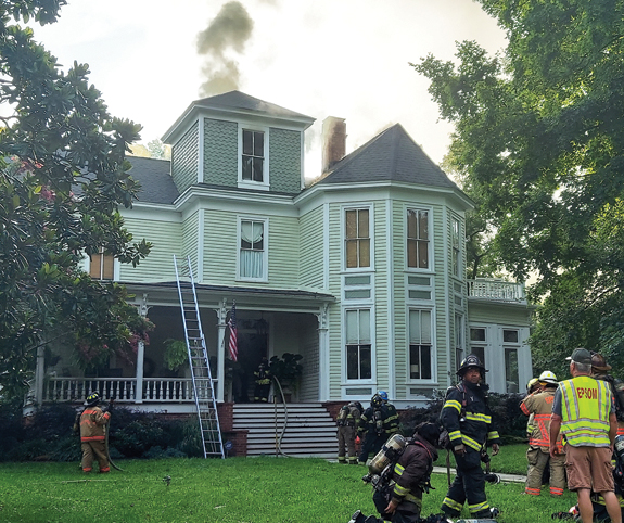 Fire damages historic home