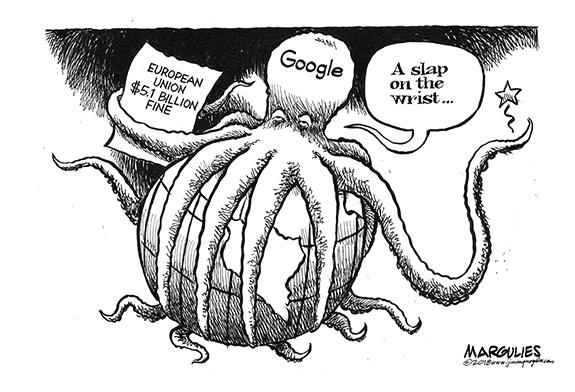 Editorial Cartoon: Google Slap