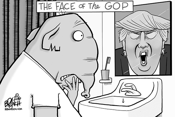 Editorial Cartoon: GOP Face