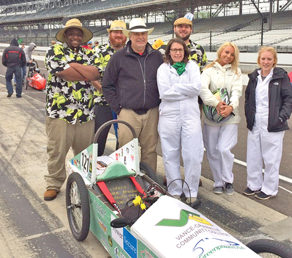 <i>VGCC team competes in electric car race at Indy</i>