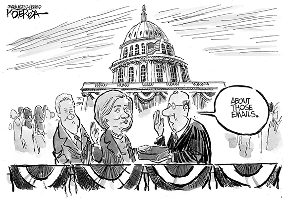 Editorial Cartoon: Hillary Emails