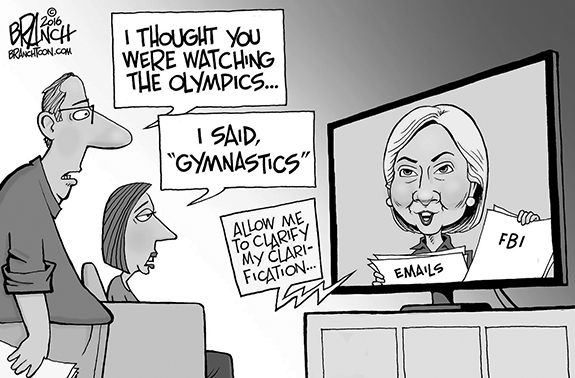 Editorial Cartoon: Hillary Gymnastics