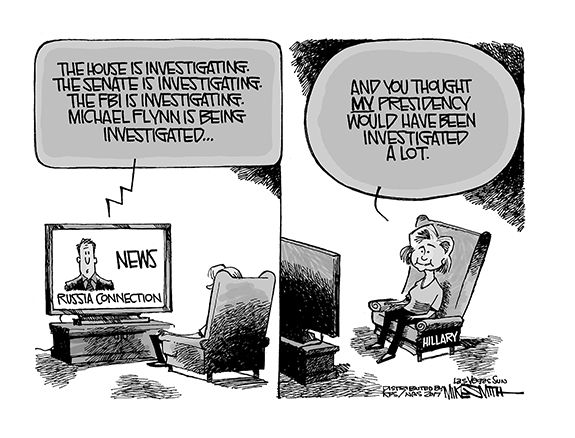 Editorial Cartoon: Hillary Investigation