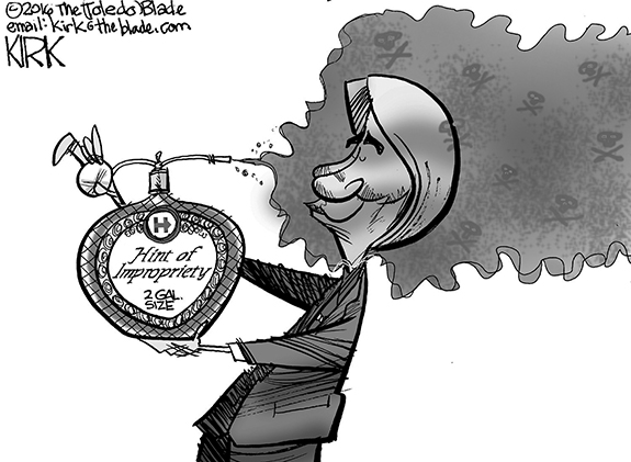 Editorial Cartoon: Hillary Perfume