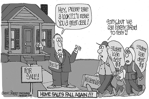 Editorial Cartoon: Home Sales