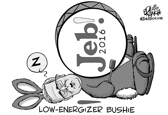 Editorial Cartoon: Low-Energizer Jeb