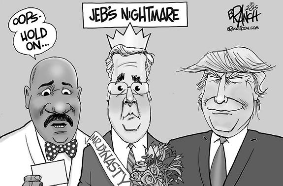 Editorial Cartoon: Jeb's Nightmare