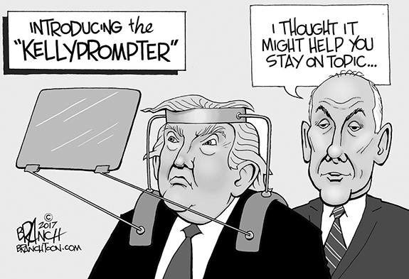 Editorial Cartoon: Kellyprompter