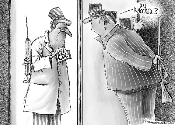 Editorial Cartoon: Knocked