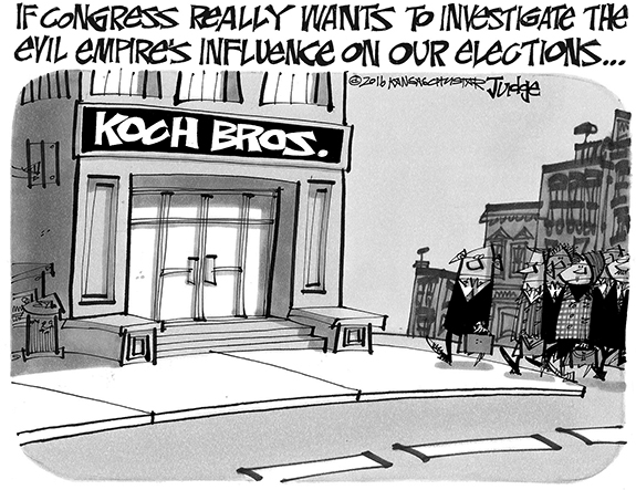 Editorial Cartoon: Koch Bros.