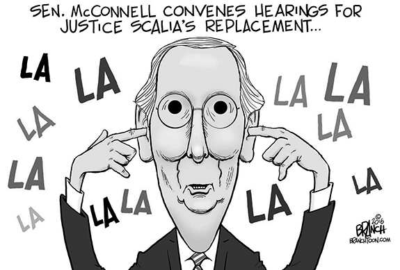 Editorial Cartoon: La La