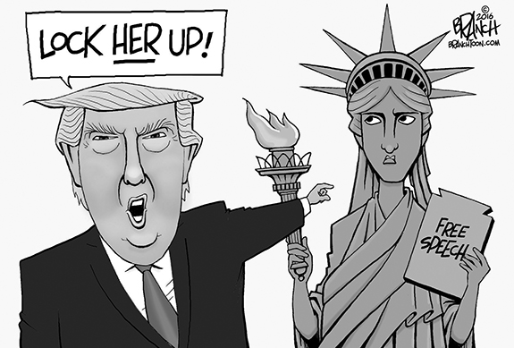 Editorial Cartoon: Lock Her Up!