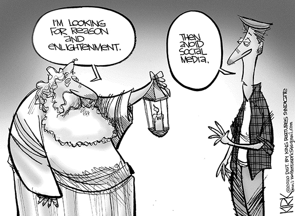 Editorial Cartoon: Looking for Reason