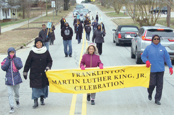 <i>A dream realized provides boost to MLK Day marchers</i>