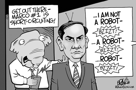Editorial Cartoon: Marcobot