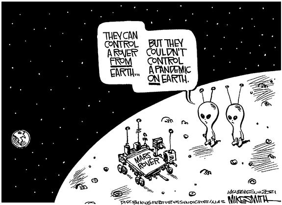 Editorial Cartoon: Mars Control