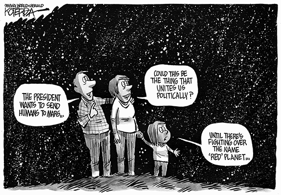 Editorial Cartoon: Mars Name