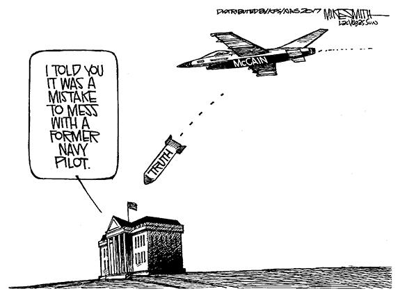 Editorial Cartoon: McCain Bombing