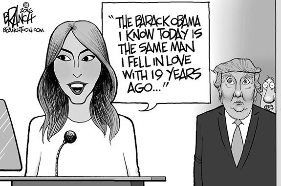 Editorial Cartoon: Melania Goof