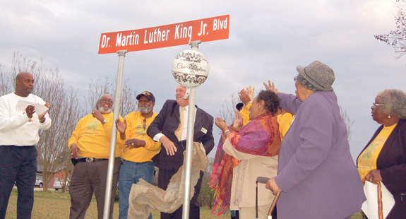 <i>County's first street honoring MLK is in Franklinton</i>