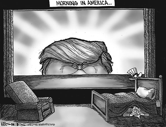 Editorial Cartoon: Morning
