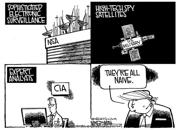 Editorial Cartoon: Naive