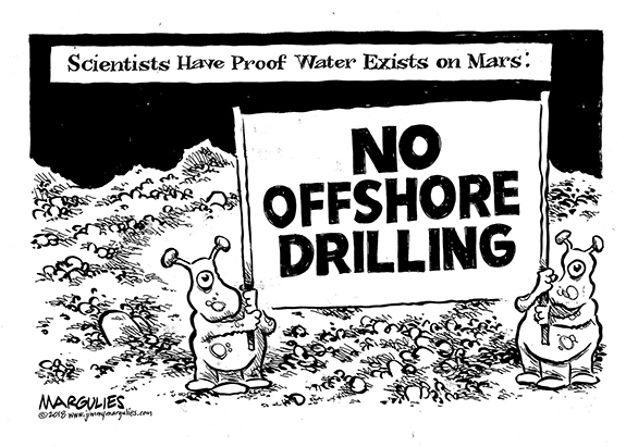 Editorial Cartoon: No Drilling