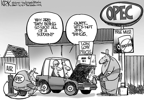 Editorial Cartoon: Opec