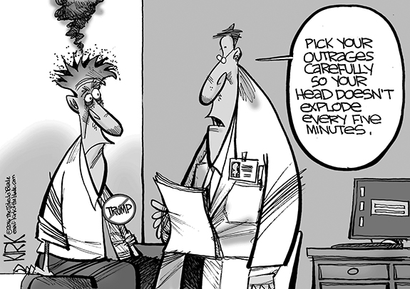 Editorial Cartoon: Outrage