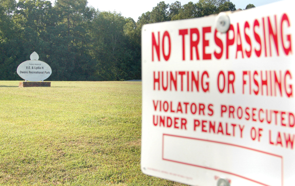 Don't trespass or fish at county 'park'!