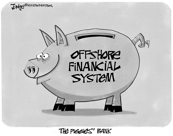 Editorial Cartoon: Piggies Bank