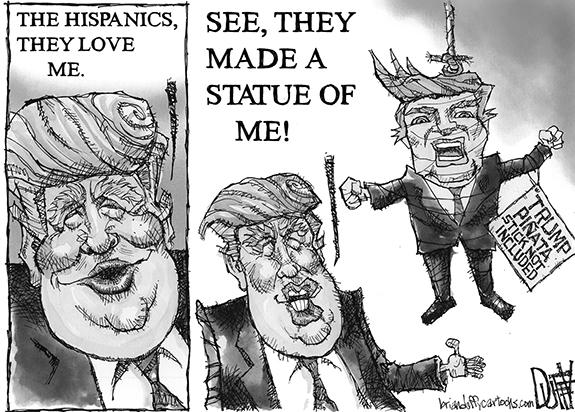 Editorial Cartoon: Pinata Donald