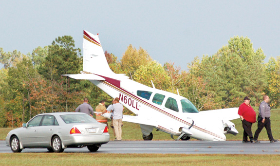 Rough landing at county airport