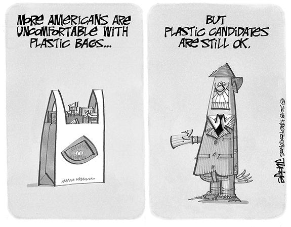 Editorial Cartoon: Plastic Bags