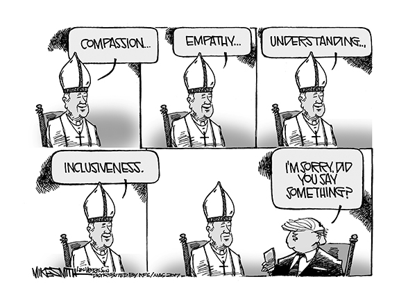 Editorial Cartoon: The Pope