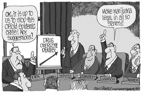 Editorial Cartoon: Pot