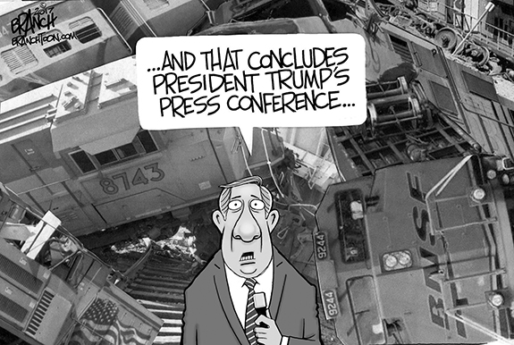 Editorial Cartoon: Press Conference