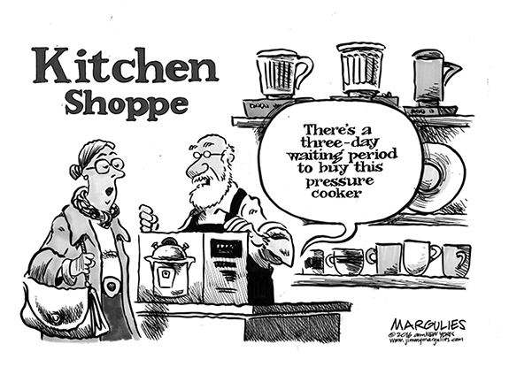 Editorial Cartoon: Pressure Cooker