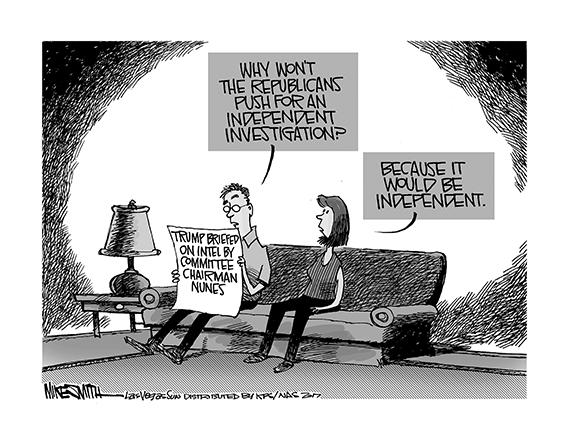 Editorial Cartoon: Probe