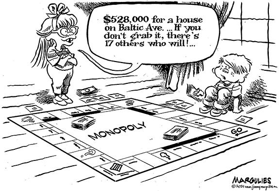 Editorial Cartoon: Property Prices