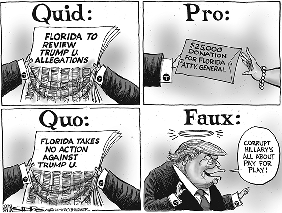 Editorial Cartoon: Quid Pro
